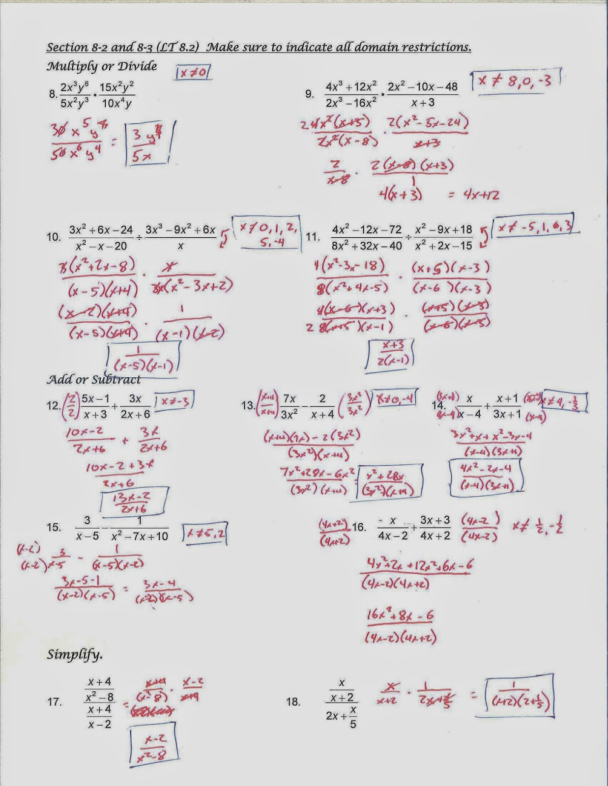 Mr Doran S Algebra 2 Unit 6 Exam Review Materials