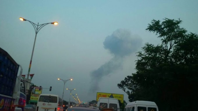 BREAKING: Gas station explodes at Trade Fair, 5 feared dead and 9 injured.