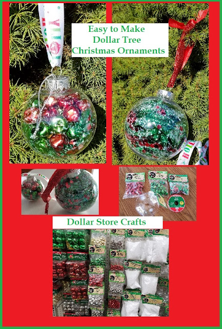 Christmas Ornaments to Make using Dollar Store Items