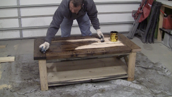 How To Stain Rustic Look Furniture