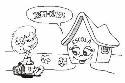 Desenhos Para Colorir Volta As Aulas So Escola