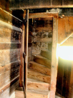 The staircase to the second floor sleeping room inside the Dan Lawson home.