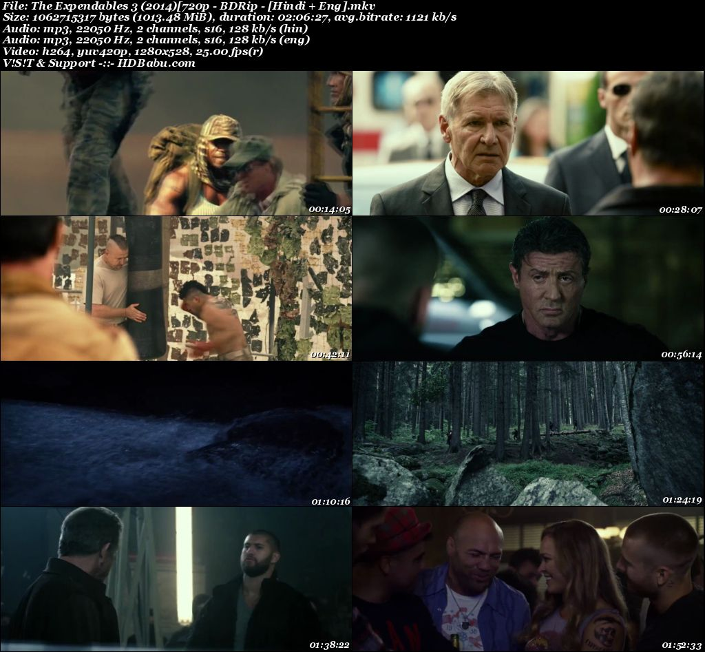 The Expendables 3 (2014) [720p - BDRip - [Hindi + Eng] Screenshot