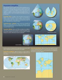 Apoyo Primaria Atlas de Geografía del Mundo 5to. Grado Capítulo 1 Lección 3 Proyecciones Cartográficas