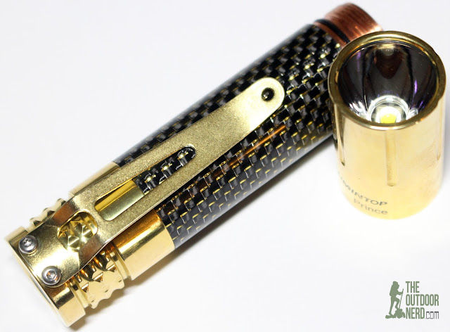 Lumintop Prince (Brass) [1x18650 EDC Flashlight] - Bezel View 1