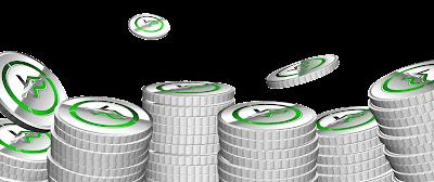 XPコインの背景 フリー素材