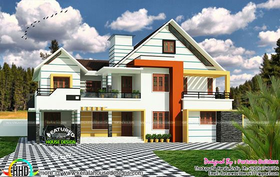 Proposed modern home at Muvattupuazha' Kerala