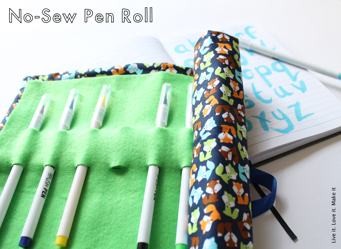Simple No-sew Pen roll