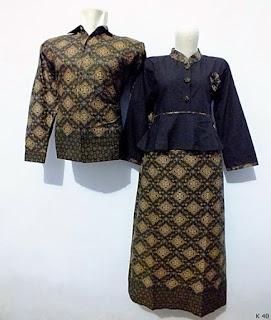 gambar baju batik couple lengan panjang