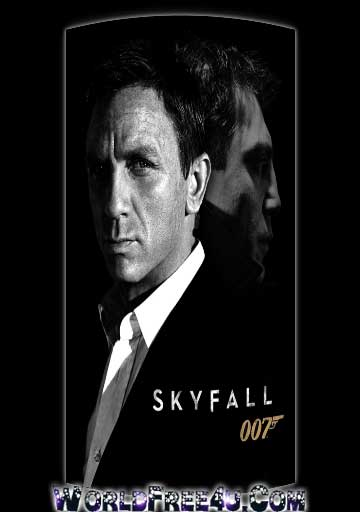 Poster Of James Bond | Skyfall (2012) Full Movie Hindi Dubbed Free Download Watch Online At worldfree4u.com