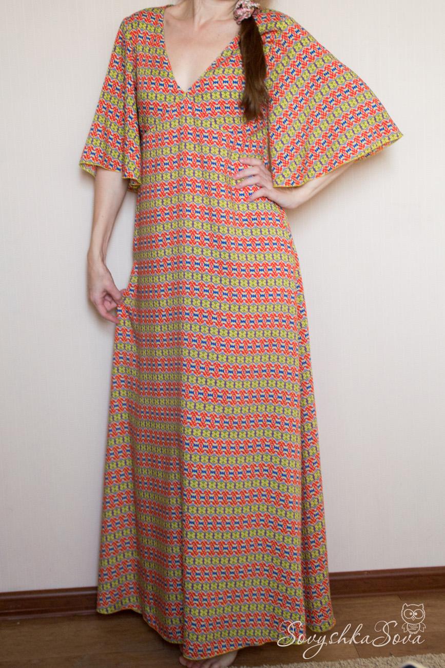 Выкройка домашнее платье для женщин