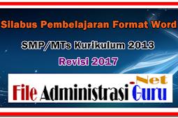 Silabus SMP Format Words Kurikulum 2013 Revisi 2017
