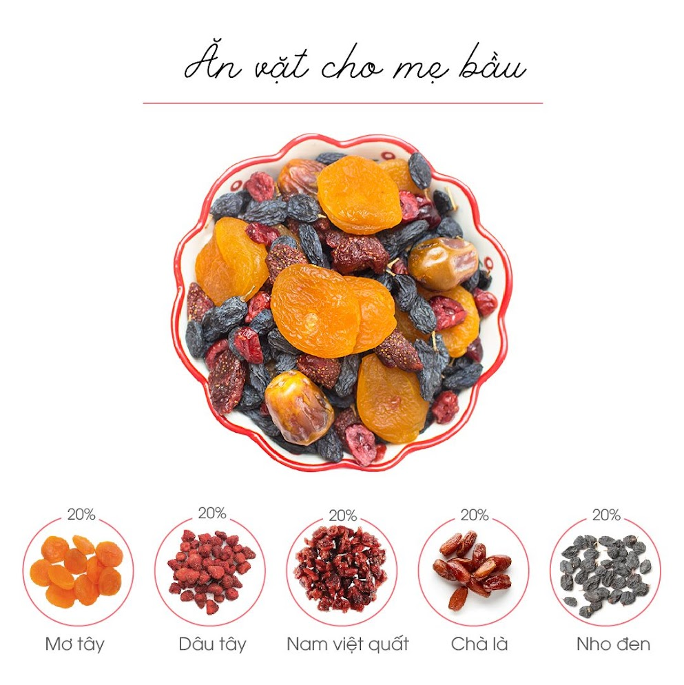 Mixfruits dinh dưỡng cho Bà Bầu tháng đầu nên ăn