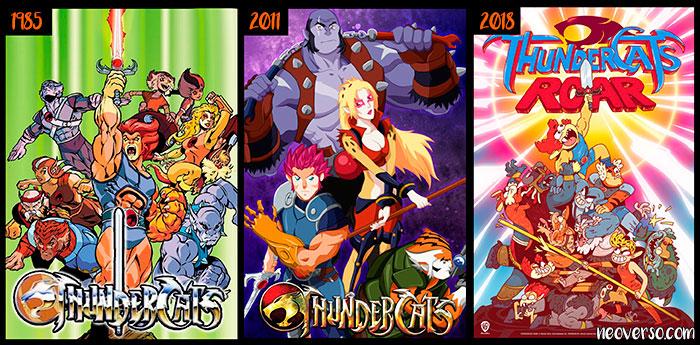 thundercats evolucion en diferentes epocas