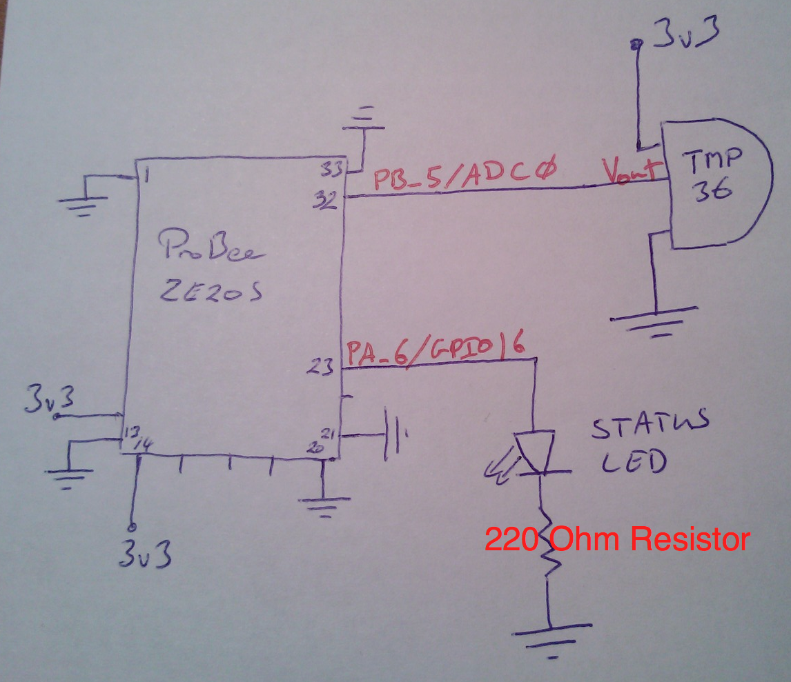 Arduino Zigbee And Embedded Development April 2012 Circuit Diagram Of Module Temperature Sensor