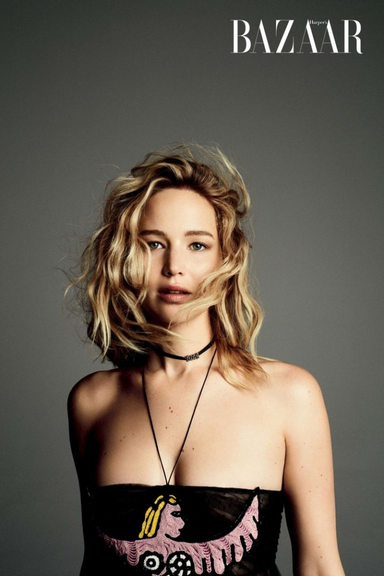 Jennifer Lawrence flaunts Dior for Harper's Bazaar Taiwan