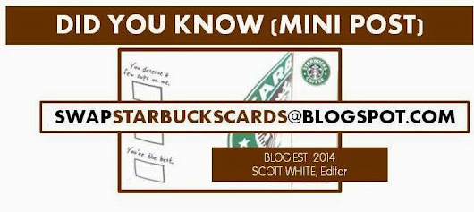 RE-POST: STARBUCKS MINI POST: QUESTION FROM BLOG READERS - NEED YOUR HELP