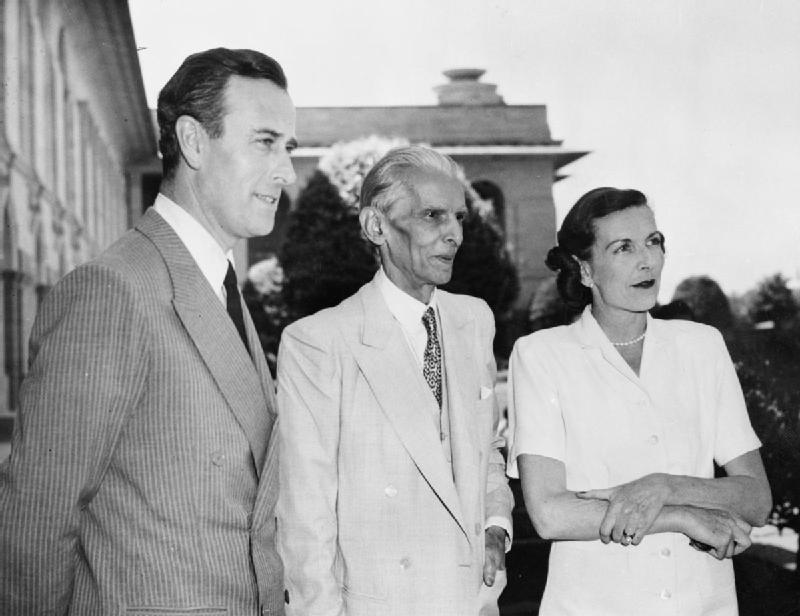 Lord and Lady Mountbatten with Mohammed Ali Jinnah - 1940's