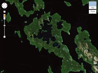 islad in a lake on an island in a lake on an island