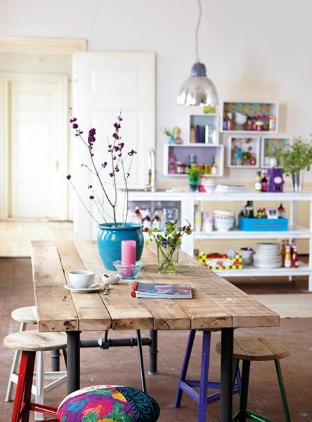 Una pizca de hogar cocinas originales y ballerina chic - Recibidores originales reciclados ...