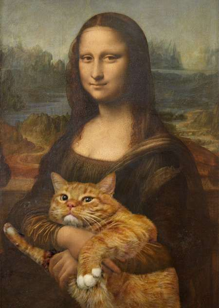 Mona Lisa painting cat picture