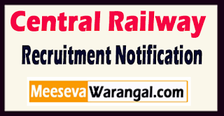 Central Railway Recruitment Notification 2017 Last Date 24-05-2017