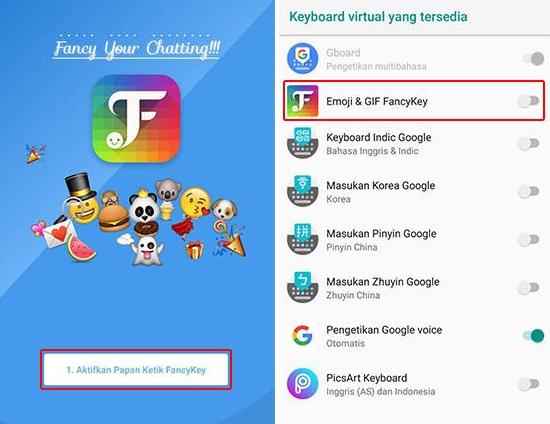 Buka Aplikasi FancyKey - Keyboard
