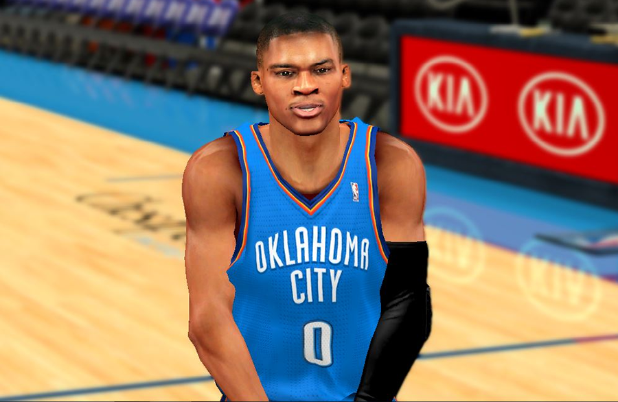 NBA 2K14 Russell Westbrook Next-Gen Face Mod