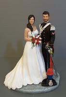 sposi personalizzati torta sposo in divisa migliori cake topper esclusivi eleganti orme magiche