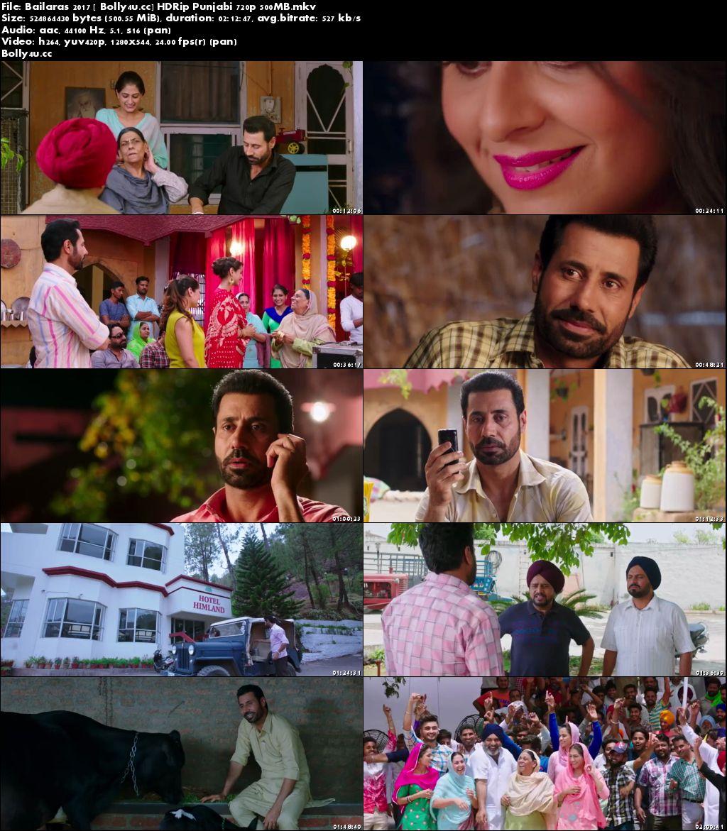 Bailaras 2017 HDRip 500MB Full Punjabi Movie Download 720p