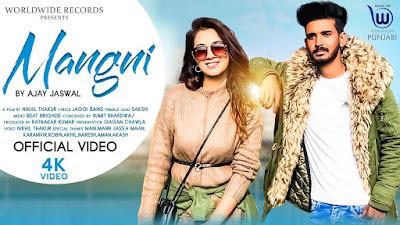 Mangni Lyrics - Ajay Jaiswal. Mangni Lyrics penned by Jaggi Bains.  Mere walon kal hi kara le Mangni ni gal tere utte khadi hoyi ae
