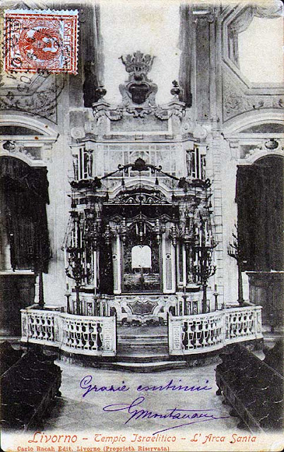 The Torah ark of the old synagogue of Livorno