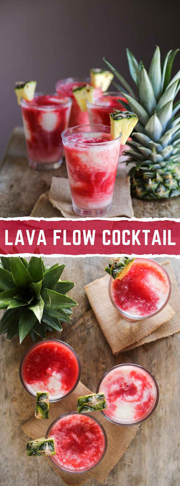 Lava Flow Cocktail #drink #summer