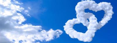 clouds hearts shape facebook cover - كفرات وأغلفة فيس بوك 2018