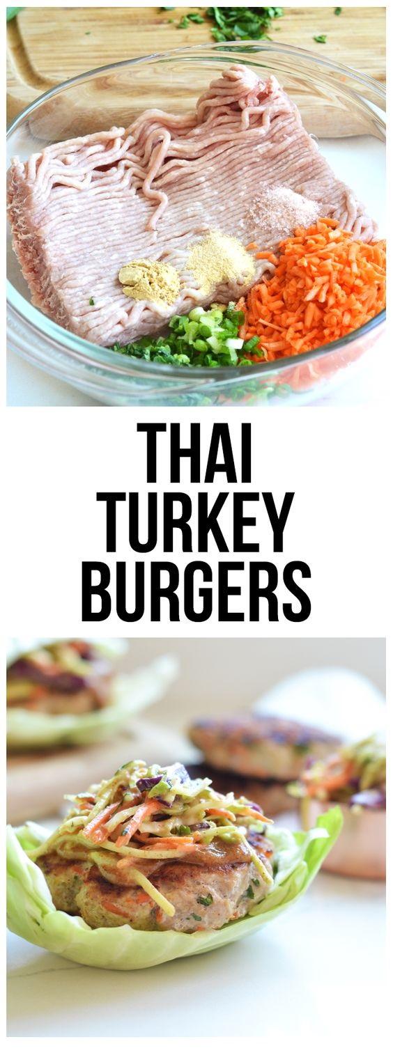 Nutrition For Whole 30 Turkey Burgers Thai