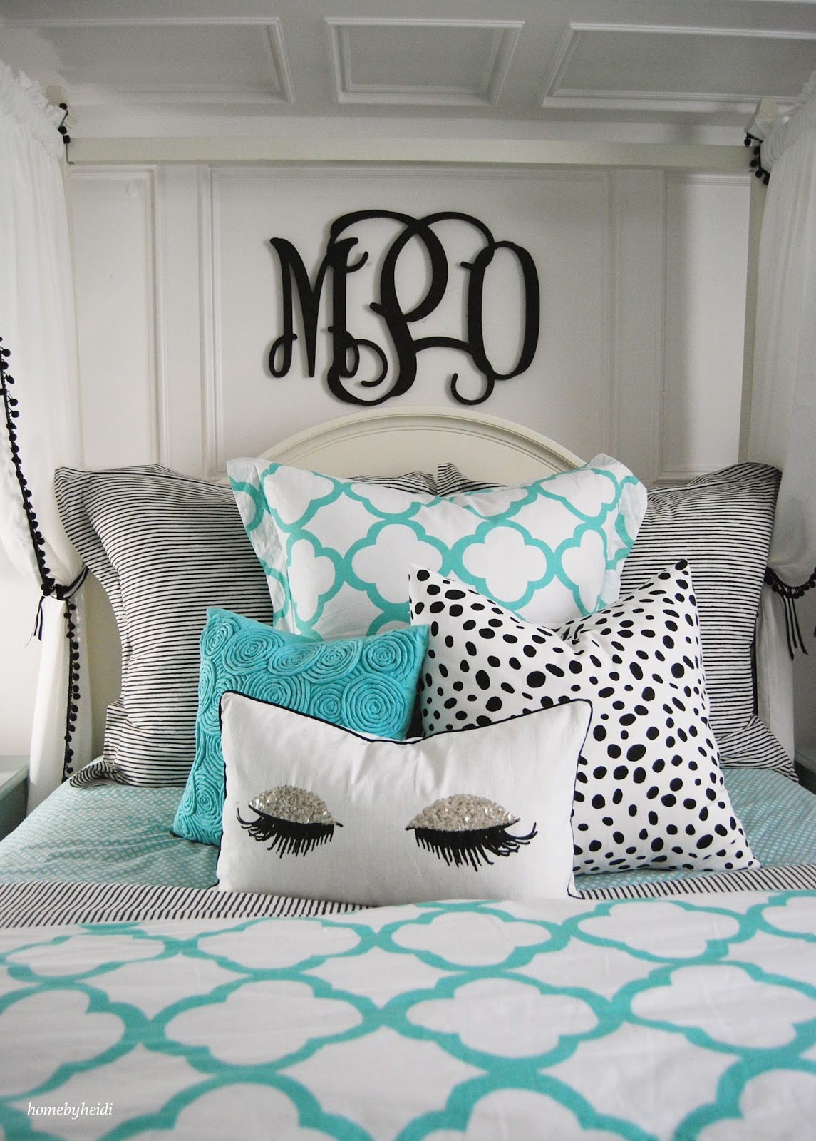 Turquoise Desk Chair Target Fishing High Back Home By Heidi: Tiffany Inspired Bedroom