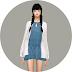 Spring Dress With Cardigan_short version_봄 원피스와 가디건_짧은 버전_여자 의상