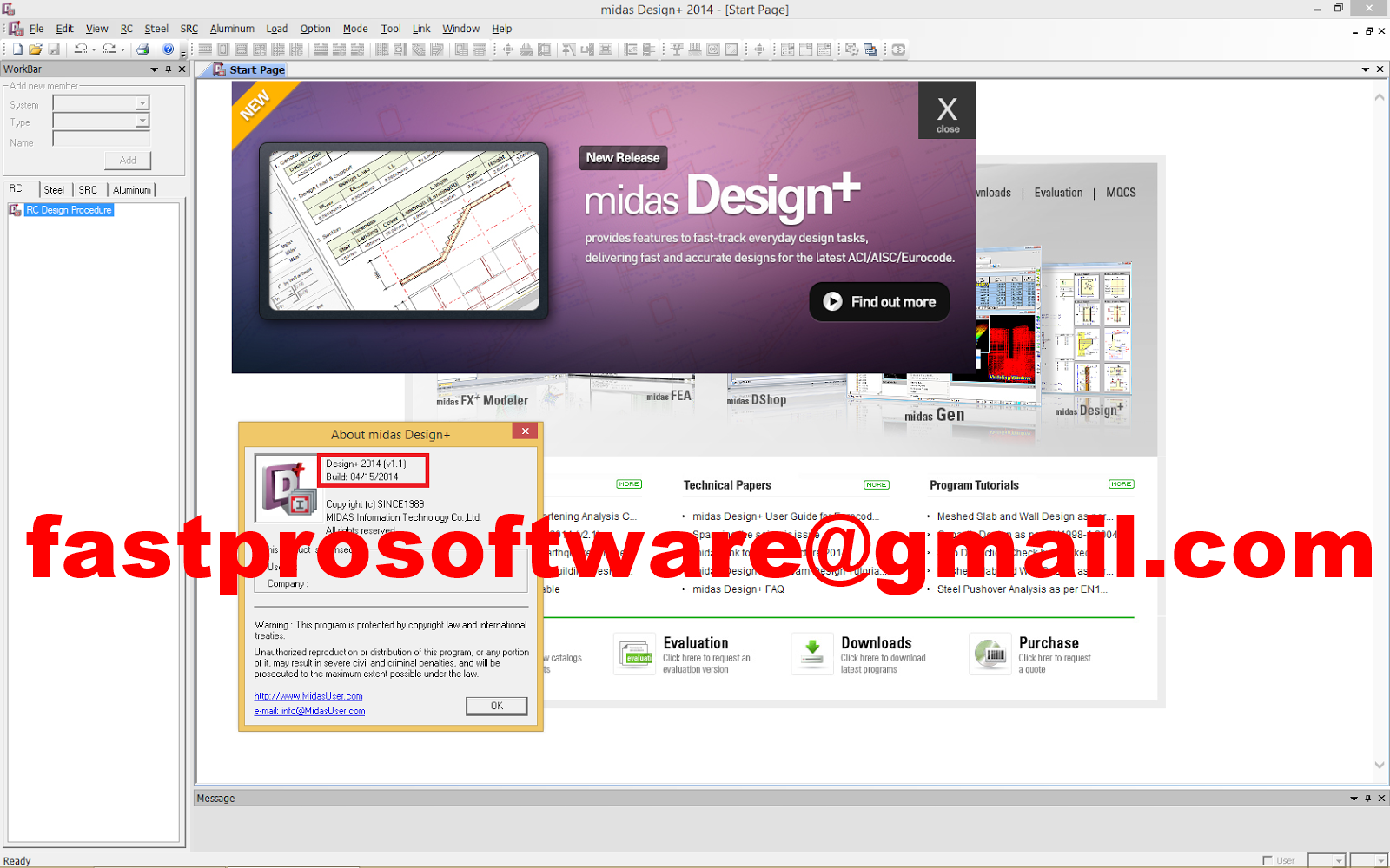Software Selling FastPro: Civil