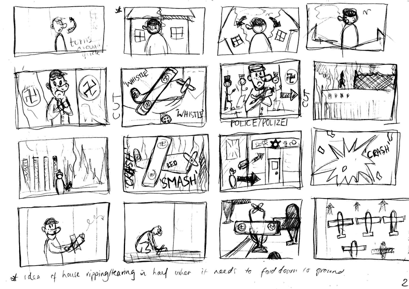 Pigment Studios: Rough Storyboard