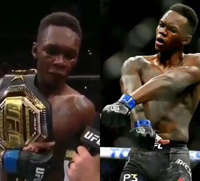I Have A Tattoo Of Nigeria With A Lion Inside On My Chest And That's A Heart Of A Lion  UFC Champion, Isreal Adesanya .
