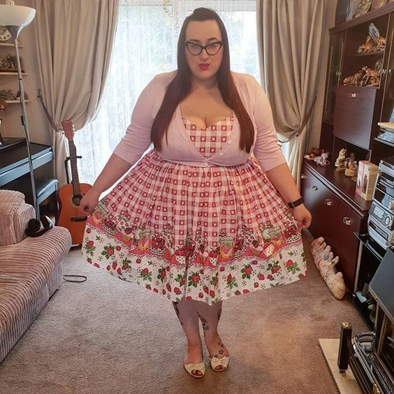 Hell Bunny Strawberry Shortcake Heart Dress