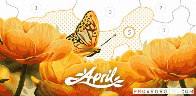 تحميل لعبة الرسم والتلوين April Coloring full