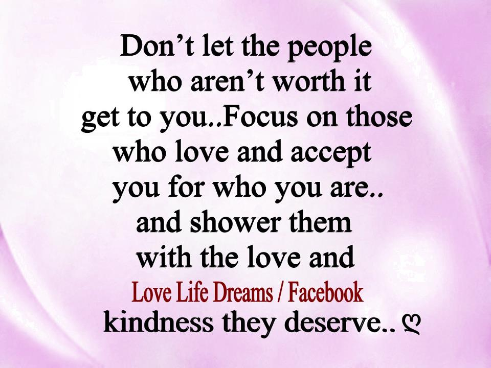Love Life Dreams Dont Let The People