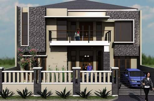 desain rumah minimalis modern 2 lantai elegan