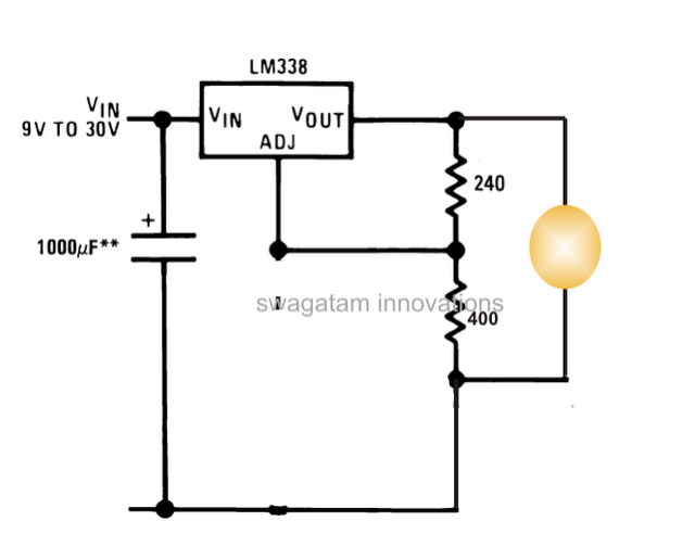 3 Watt, 5 Watt LED DC to DC Constant Current Driver Circuit