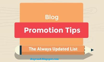 Tips For Blog Promotion