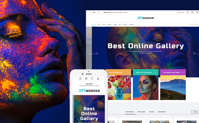 Online Art Gallery PrestaShop Theme