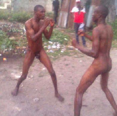 Naked Men Fighting 91