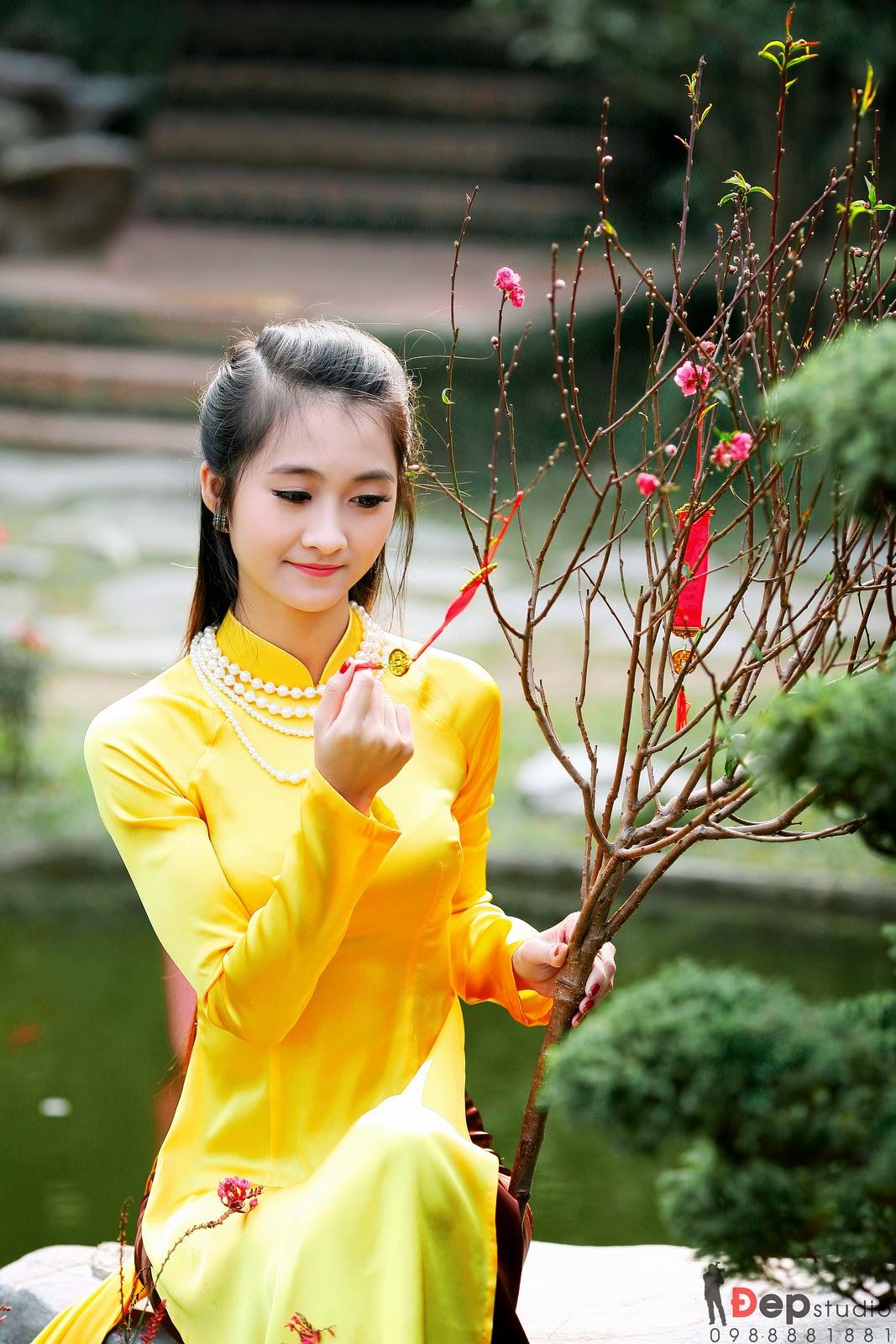 Ảnh đẹp girl xinh Áo dài truyền thống Việt Nam - Ảnh 18