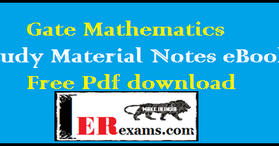 Engineering Mathematics Notes eBooks For GATE IES PSU Exams